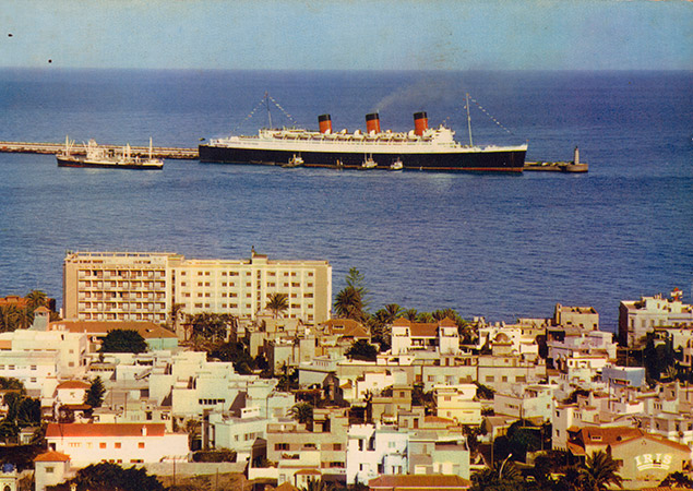 Las-Palmas-Port_Queen-Mary_In-the-sixties